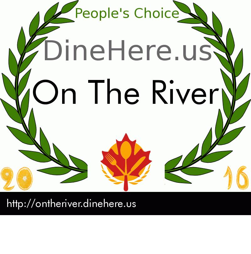 On The River DineHere.us 2016 Award Winner